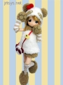 MAMACHAPP Nanachan Striped Panda ver. 1/6 Fashion Doll Obitsu RARE